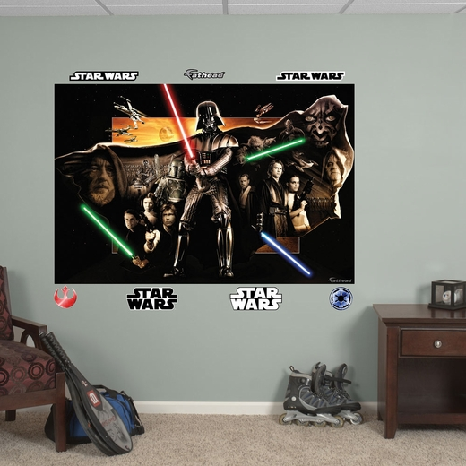 Star Wars Saga Montage Mural REALBIG Wall Decal