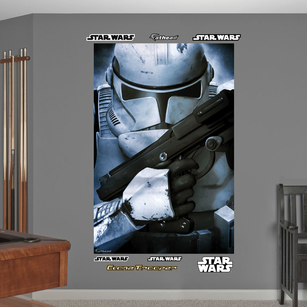 Star Wars Stormtrooper Closeup Mural Wall Decal