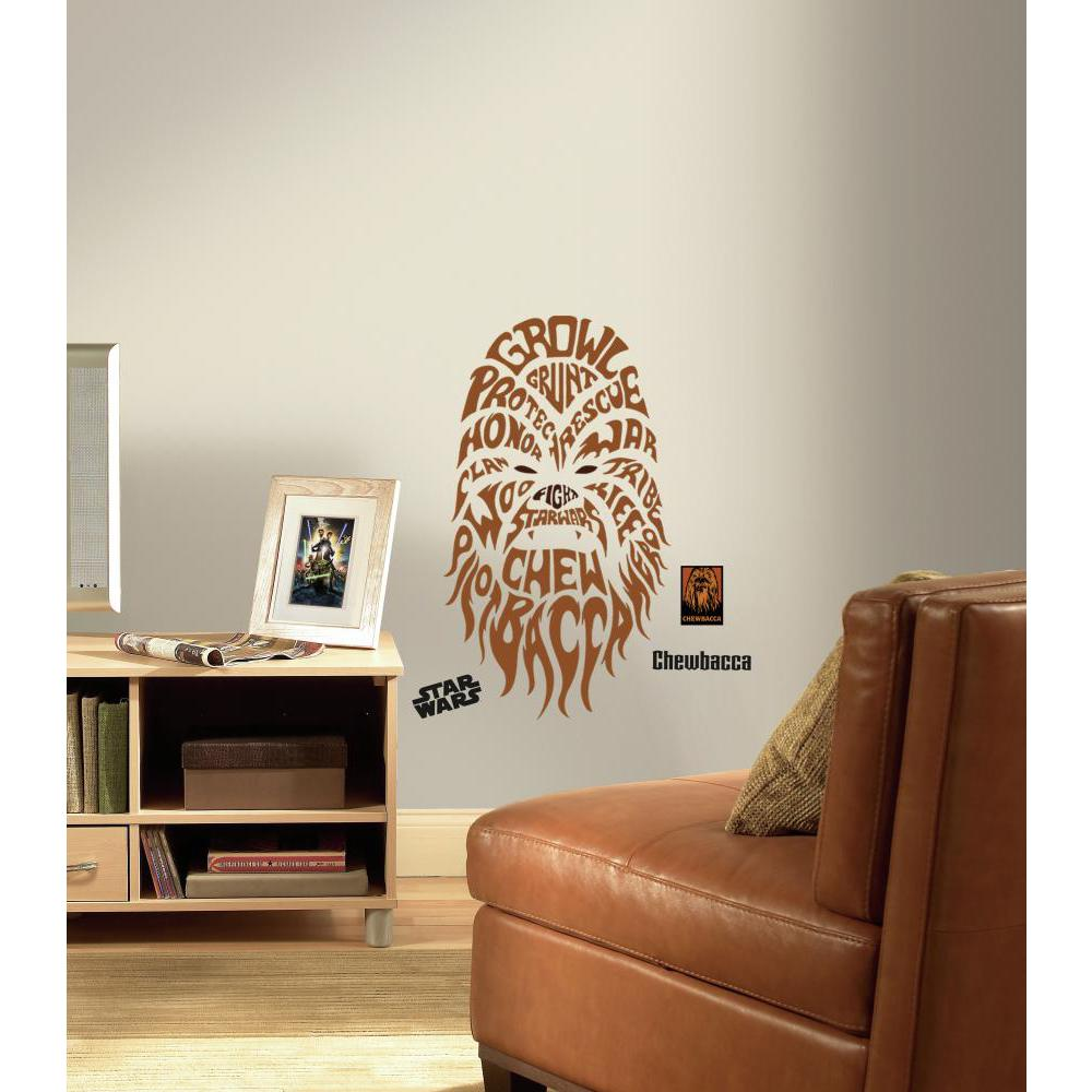 Star Wars Typographic Chewbacca Giant Decal