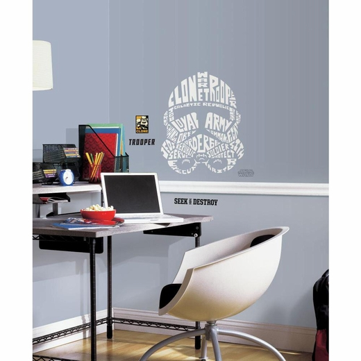 Star Wars Typographic Clone Trooper Giant Decal