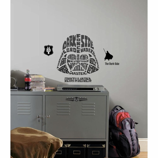 Star Wars Typographic Darth Vadar Giant Decal
