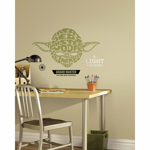 Star Wars Typographic Yoda Giant Decal