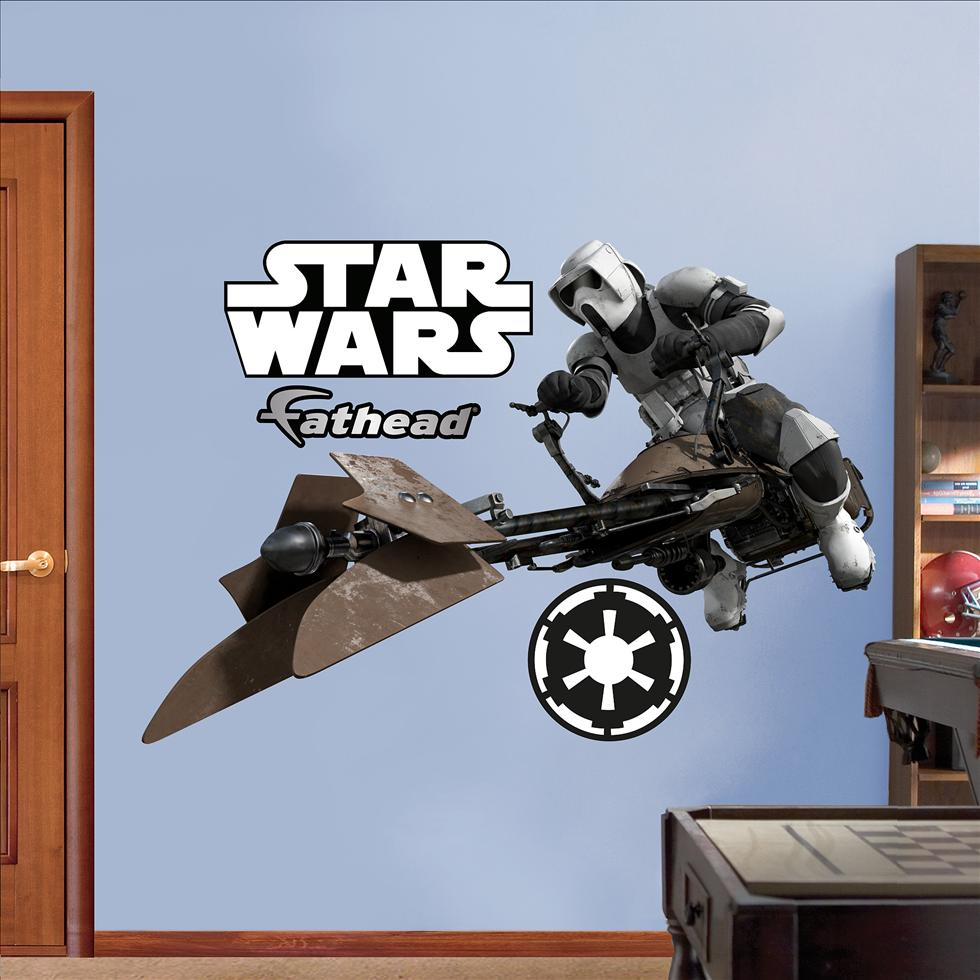 Storm Trooper/Speeder Bike-Fathead