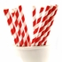 Striped Red Paper Straws