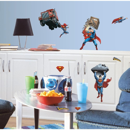 Superman-Day Of Doom Peel And Stick Decal