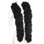 Faux Black Featherless Boa (6', 180 grams)