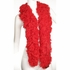 Faux Red Featherless Boa (6', 180 grams)