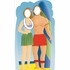 Surf Board Couple Stand In Lifesized Standup