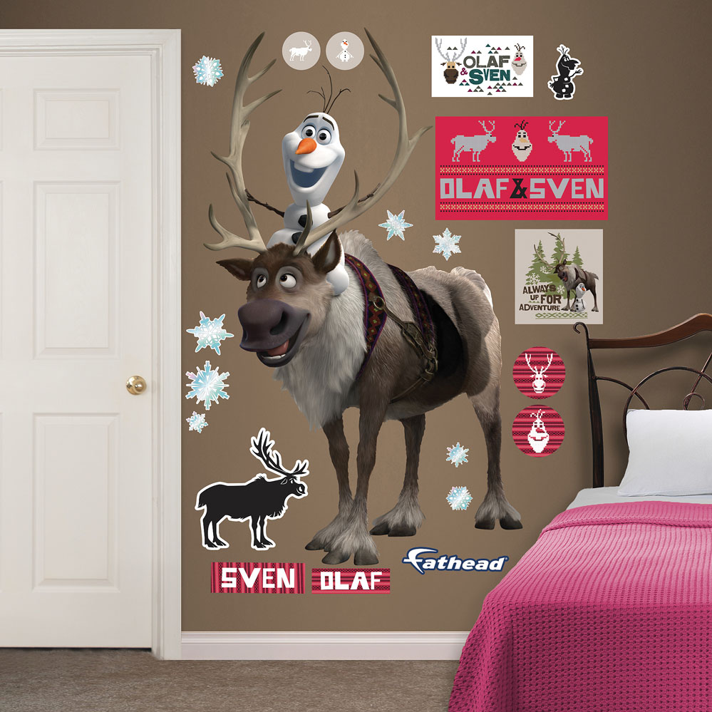 Sven and Olaf REALBIG Wall Decal