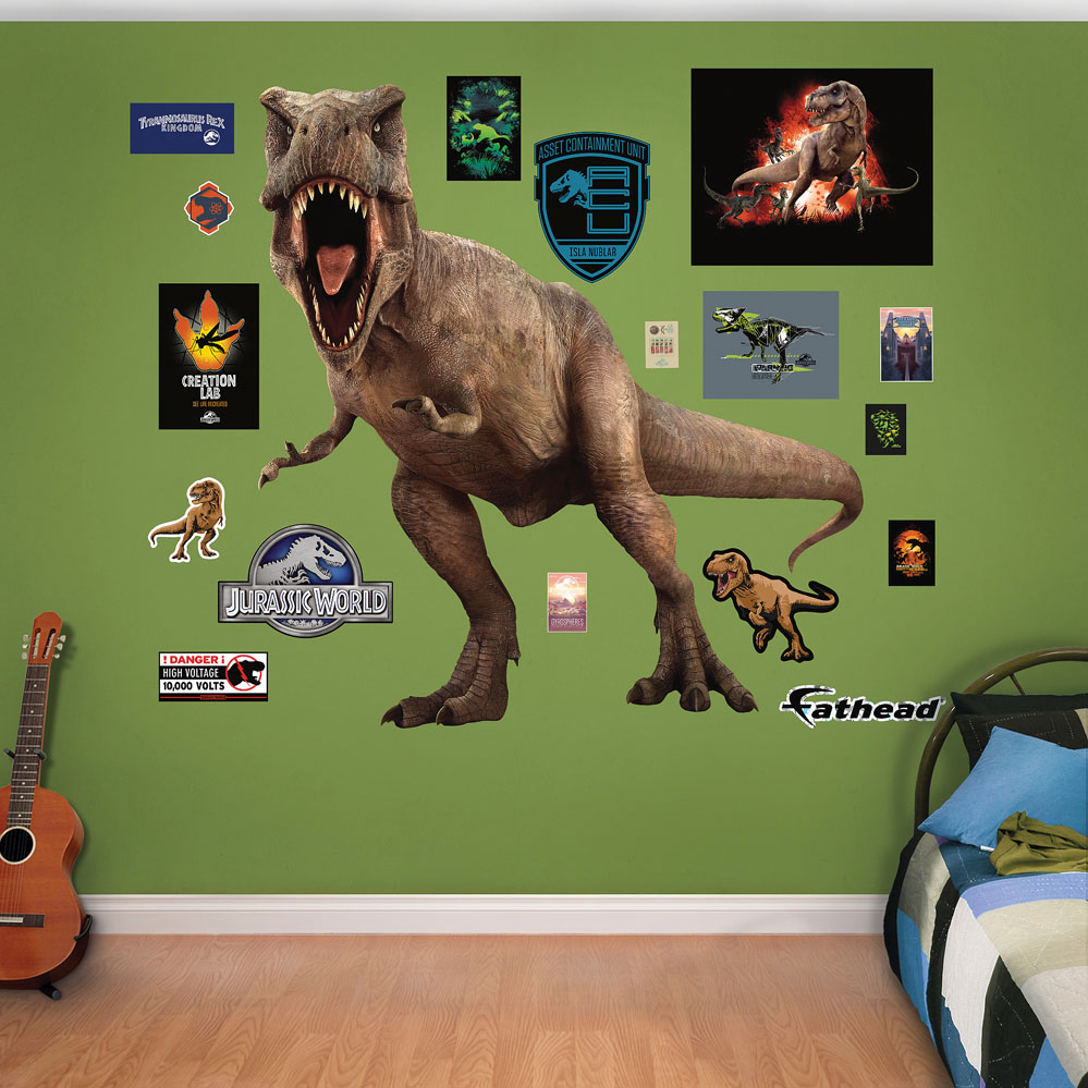 T Rex Jurassic World Fathead Wall Decals
