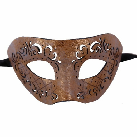 Tan Masquerade Leather Mask