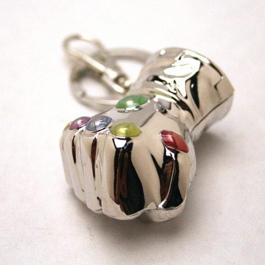 Thanos Glove Infinity Guantlet Pewter Keychain