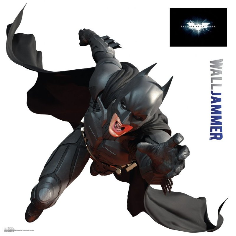 The dark knight rises batman wall decor for Dark knight rises wall mural