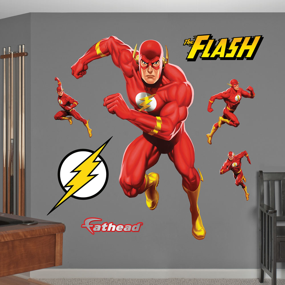 The Flash in Action REALBIG Wall Decal