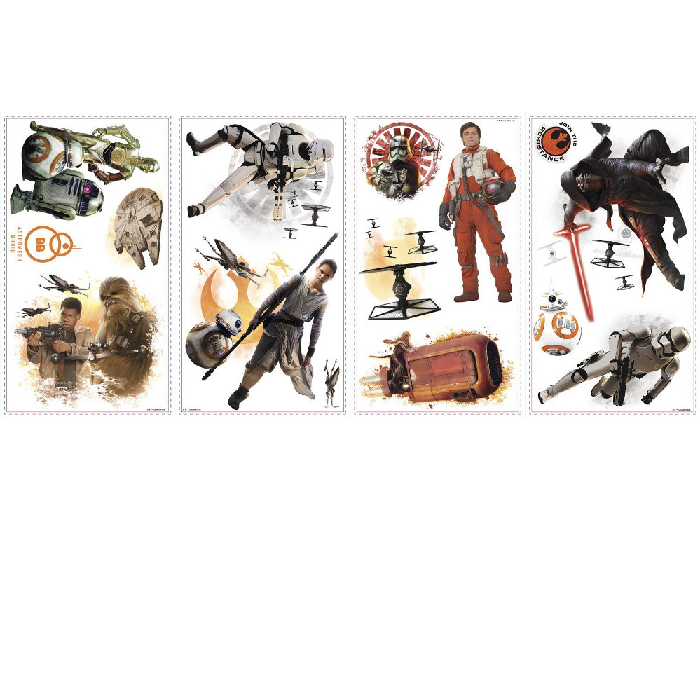 The Force Awakens Cast Ensemble Wall Decals
