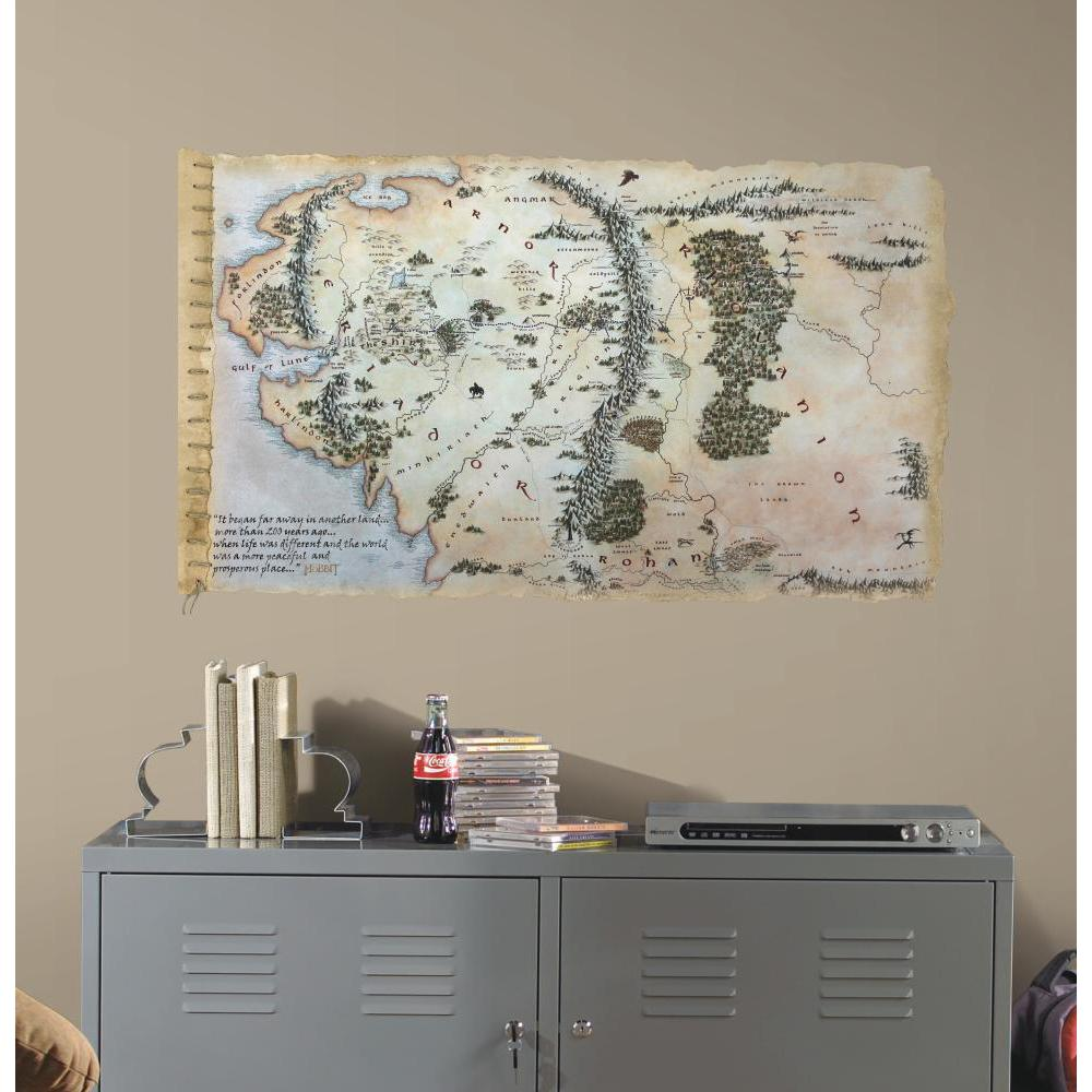 The Hobbit Middle Earth Map Giant Decal