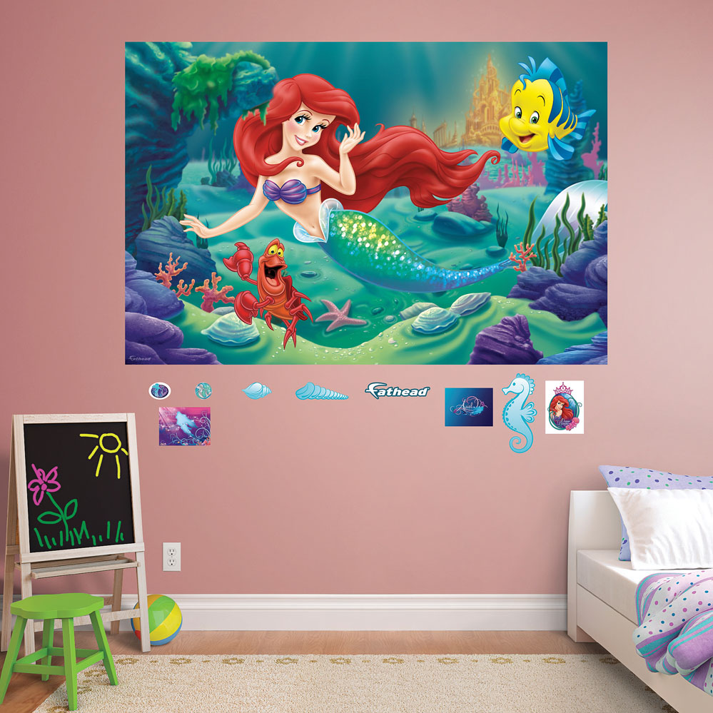 The Little Mermaid Mural REALBIG Wall Decal