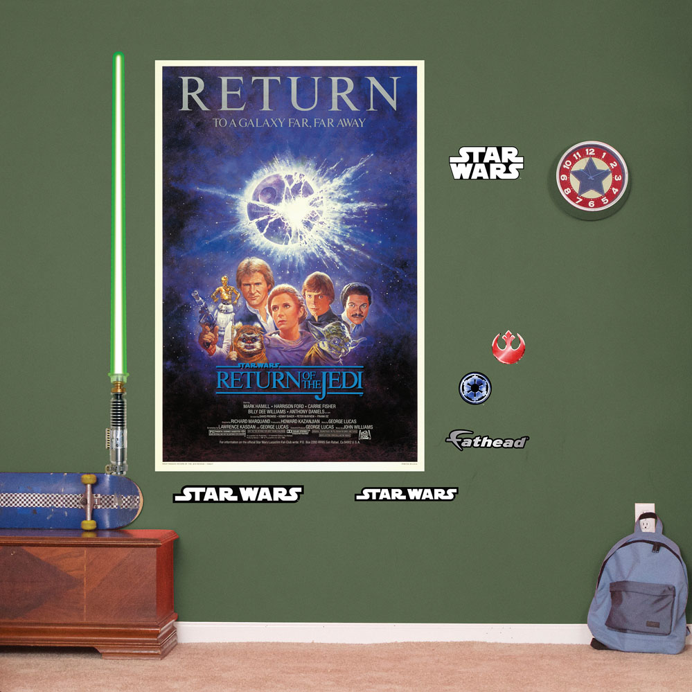 The Return of the Jedi Movie Poster Mural