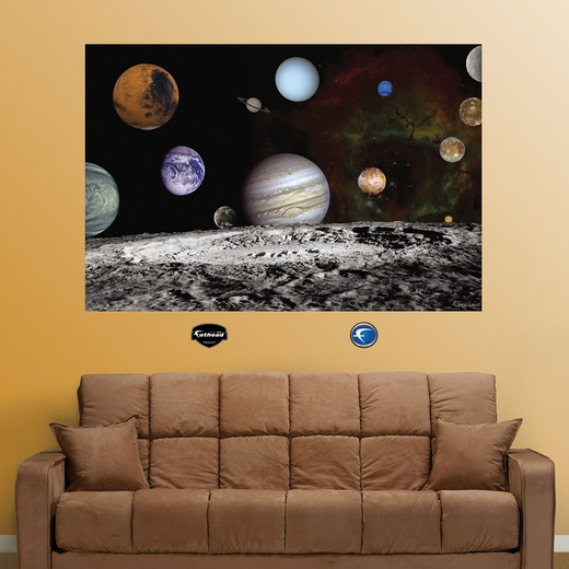 The Solar System Artist Concept Wall Decal