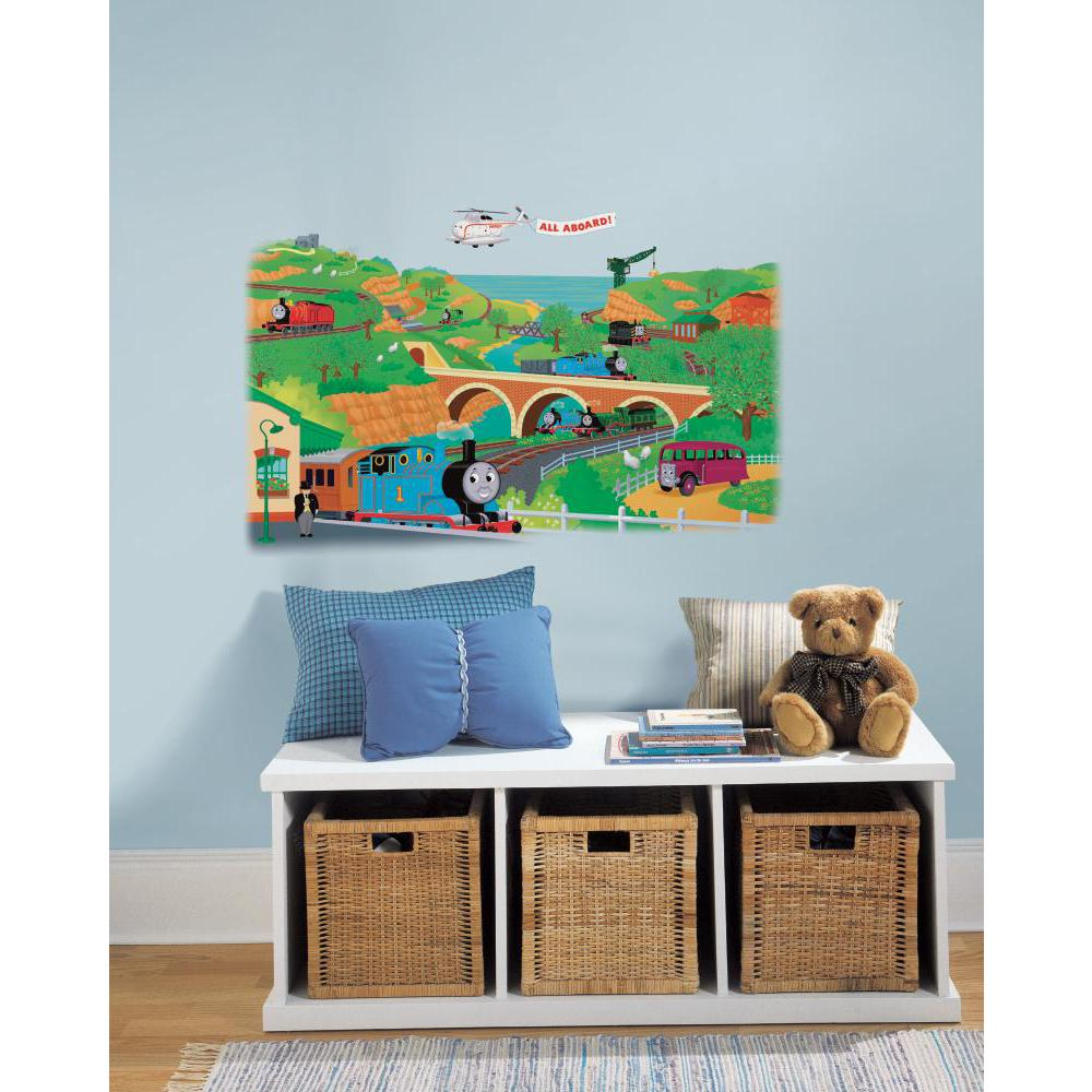 Thomas and friends peel and stick giant wall decal - Sticker geant mural ...