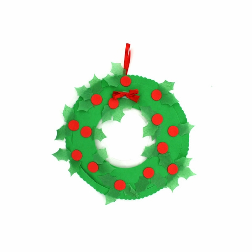Tissue Paper Christmas Wreath Craft Kit