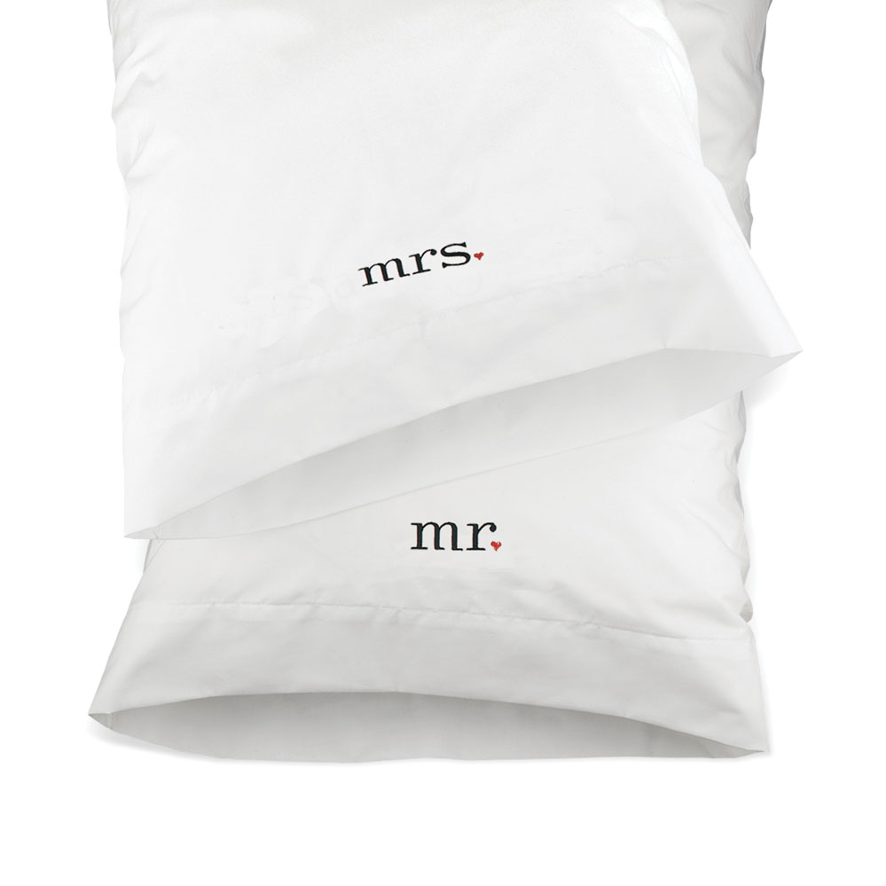 Together Mr And Mrs Pillowcases