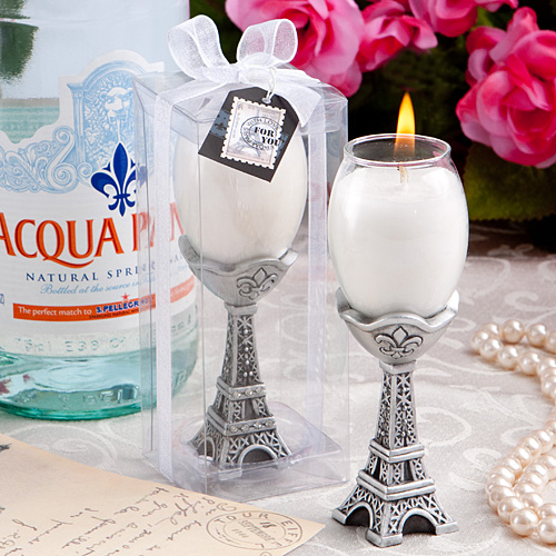 Tres Chic Eiffel Tower Candle Holders