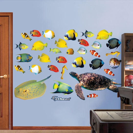 Tropical Fish Collection Real.Big Wall Decal