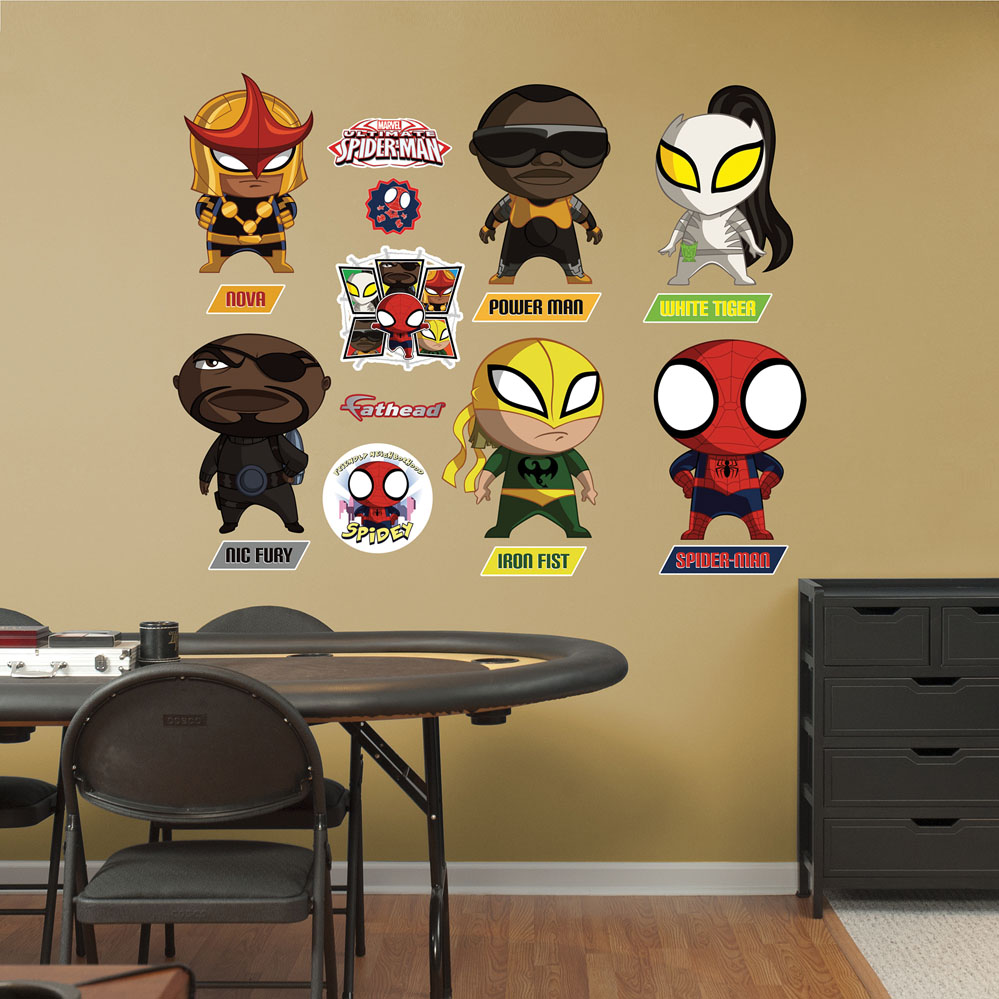 Ultimate Spider-Man Mini Team Wall Decal