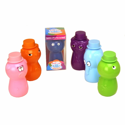 Uncle Bubble Pop Up Bubble Friends Bubble Bottles With Wands