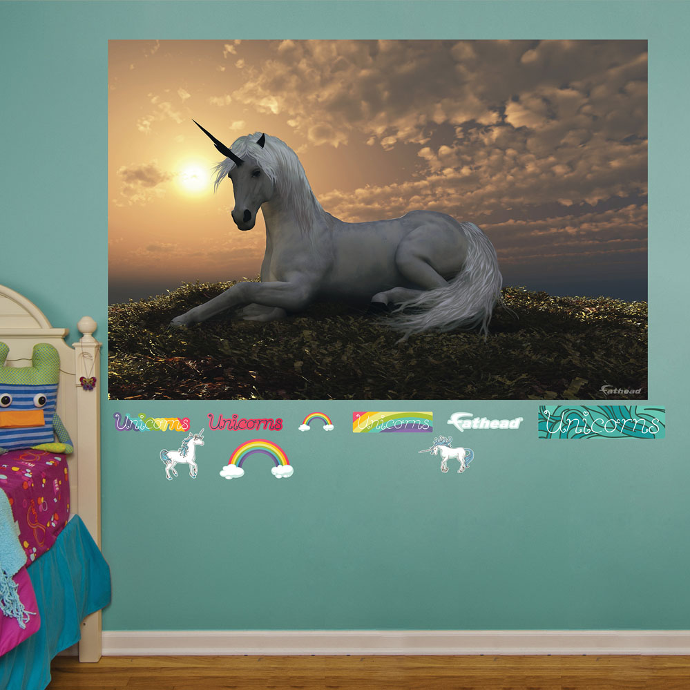 Unicorn At Dusk Mural REALBIG Wall Decal