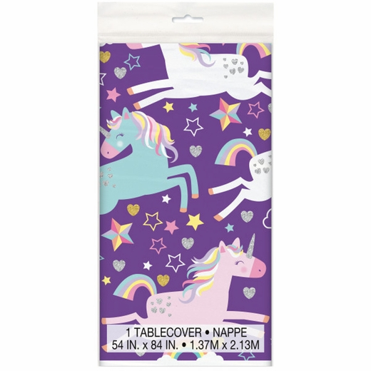 Unicorn Plastic Table Cover - Rectangle