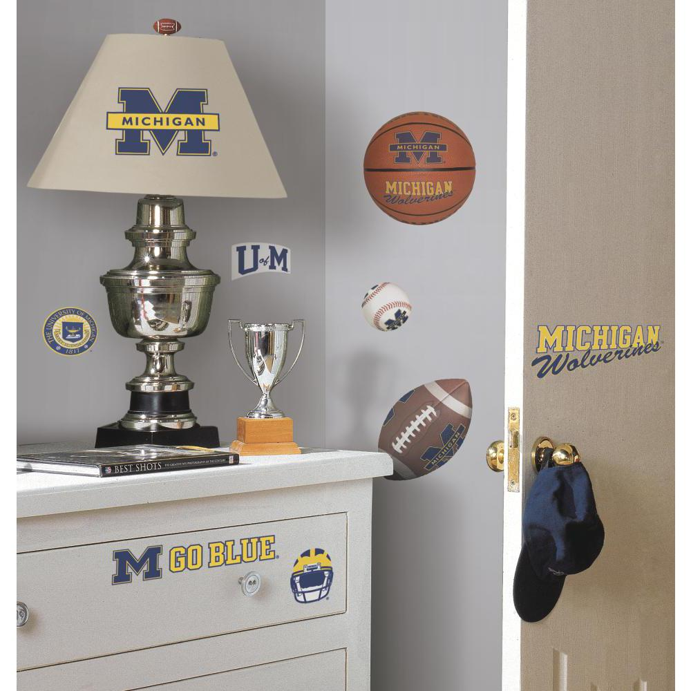 University of Michigan Peel And Stick Decal