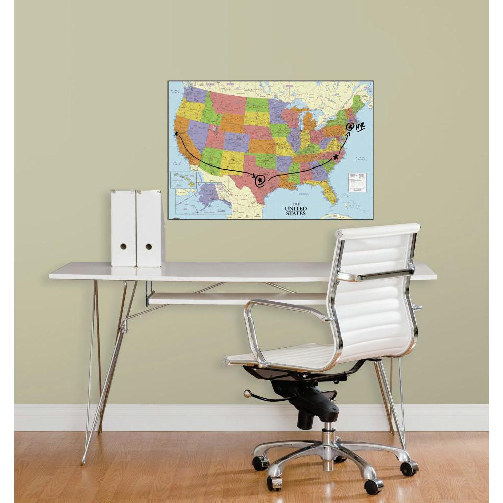 USA Map Dry Erase Giant Decal