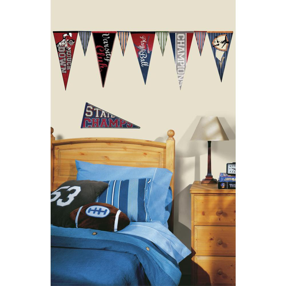 Varsity Pennants Decal