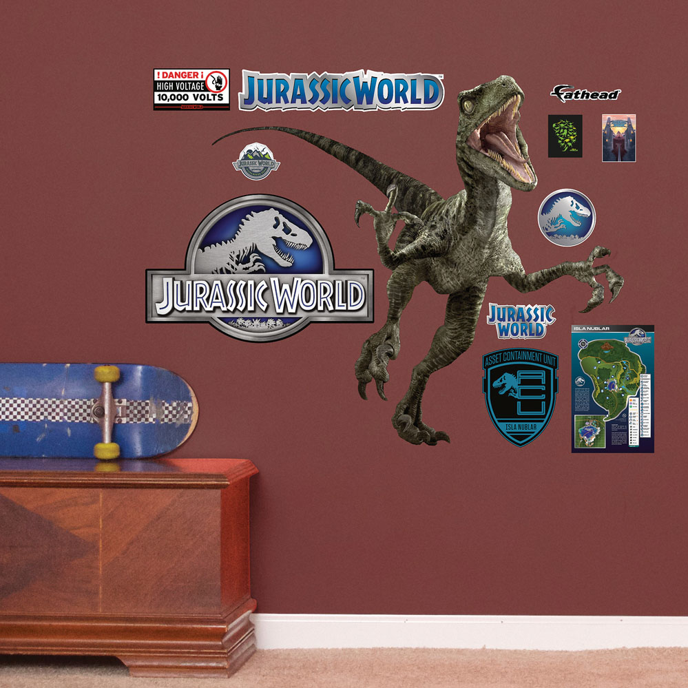 Velociraptor Jurassic World Fathead Junior Decals
