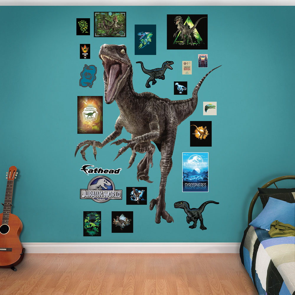Velociraptor Jurassic World Fathead Wall Decals