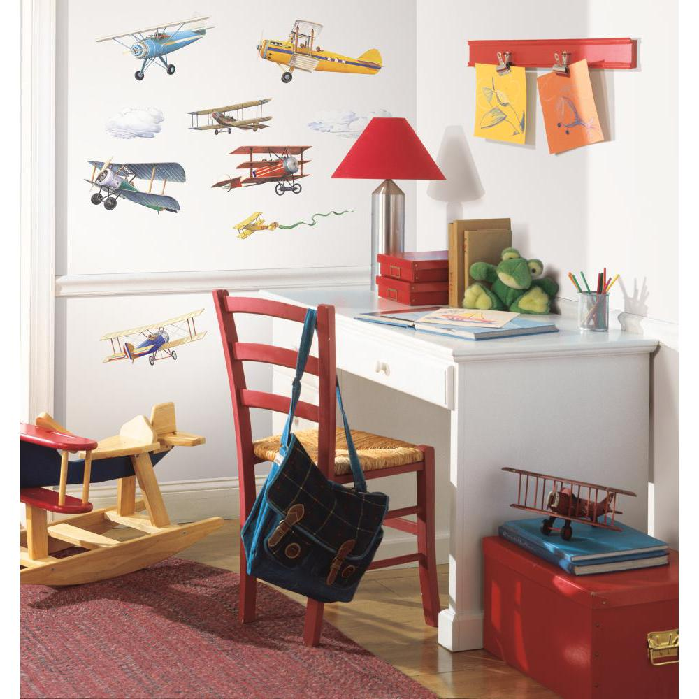 Vintage Planes Peel And Stick Decal