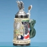 Vintage US Coins Stein with Eagle Figurine