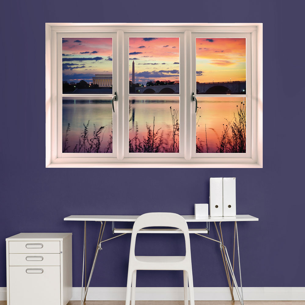 Washington D.C. Sunrise: Instant Window Wall Decal