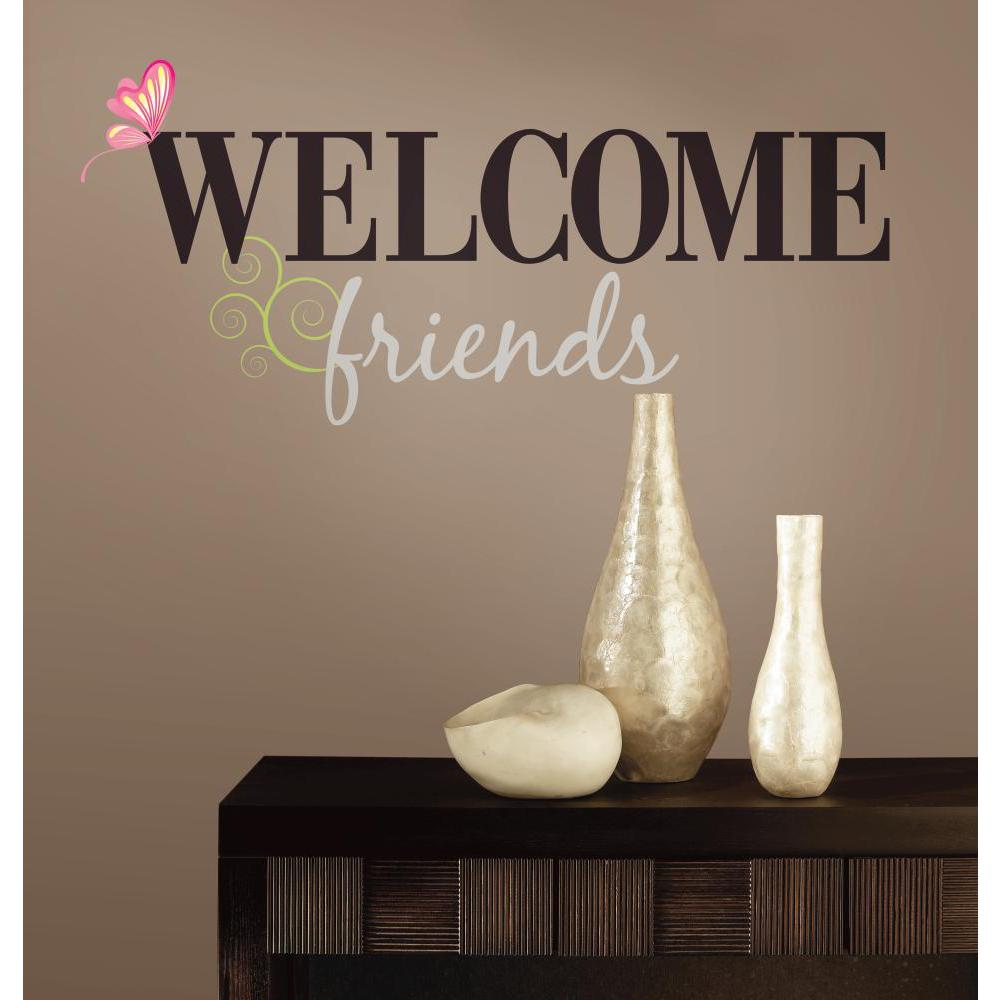 Welcome Friends Peel And Stick Decal