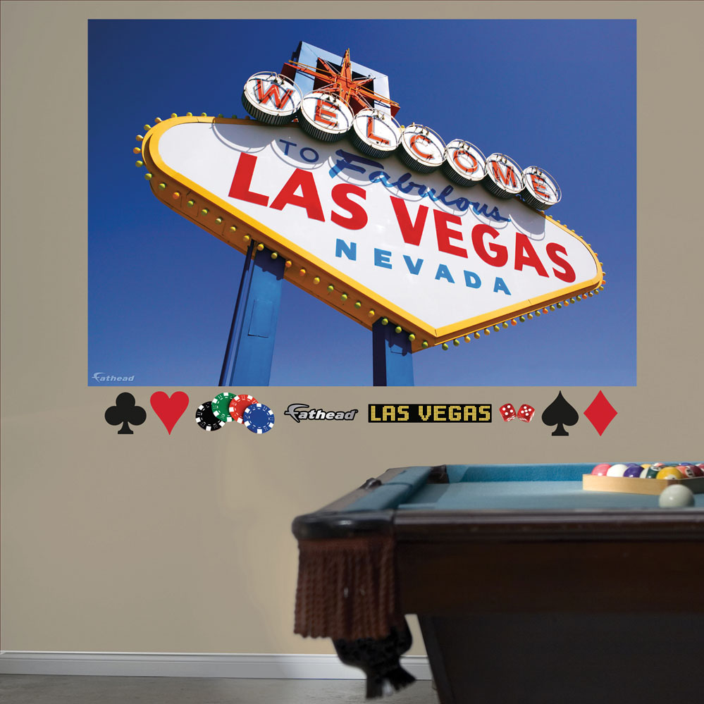 Welcome to Las Vegas Mural REALBIG Wall Decal