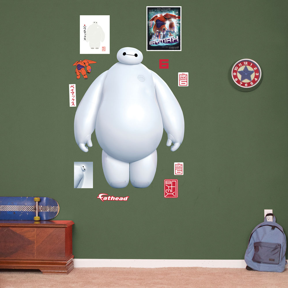 White Baymax REALBIG Wall Decal