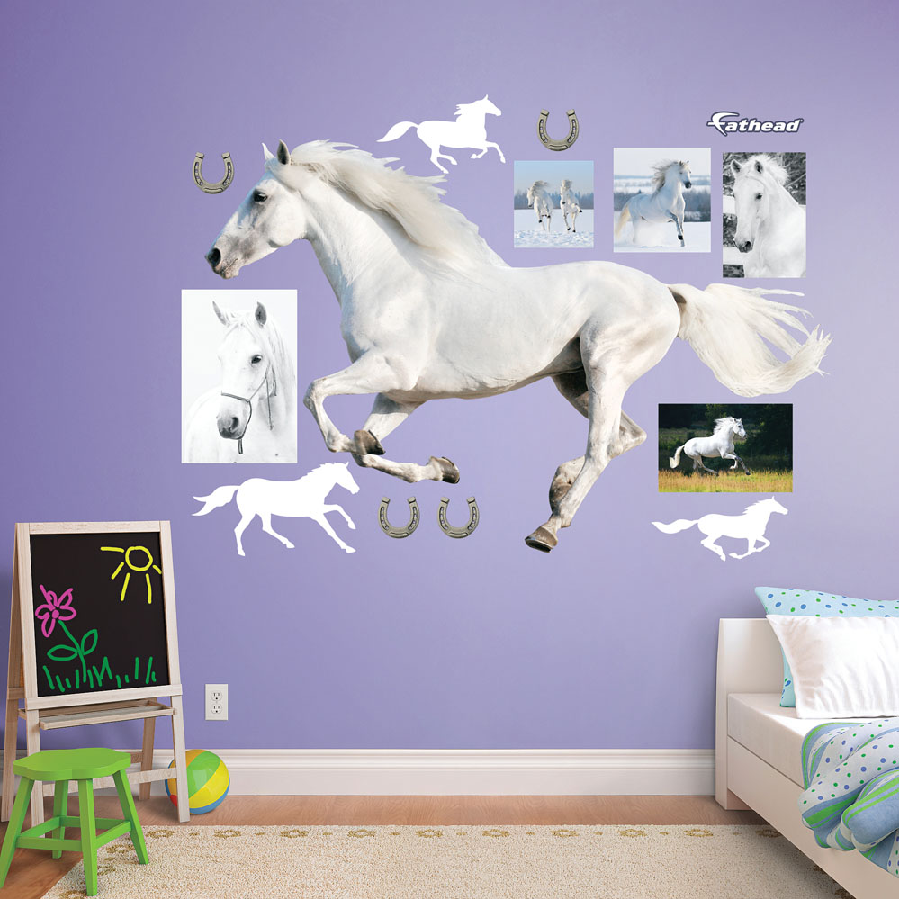 White Horse Running REALBIG Wall Decal