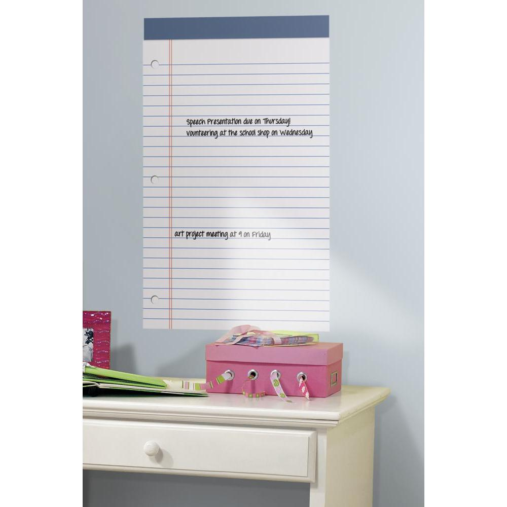 White Legal Pad Dry Erase Decal