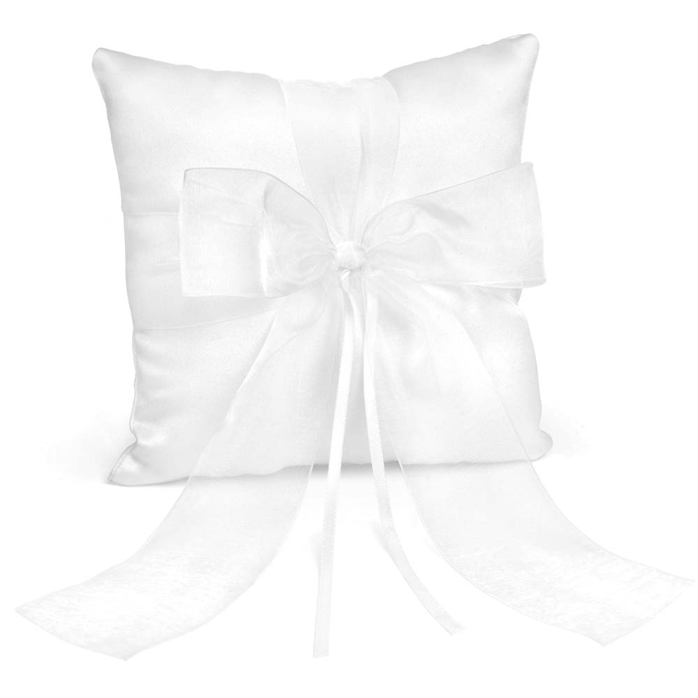 White Mini Satin Pillow