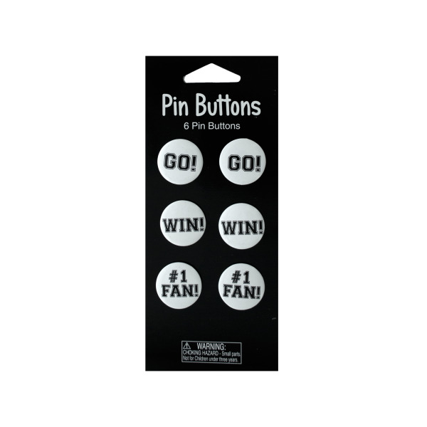 White Pin Button