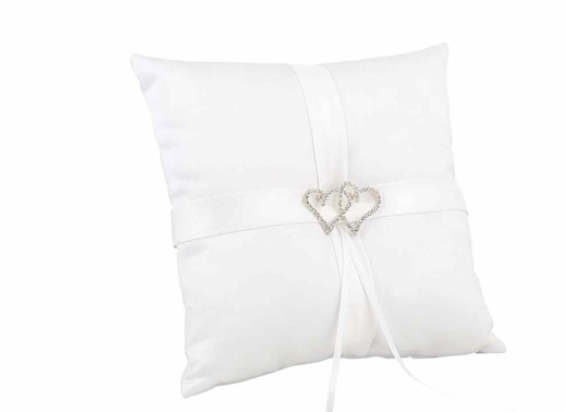 White With All My Heart Pillow