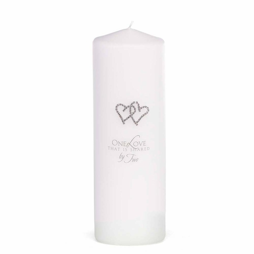 White With All My Heart Unity Candle