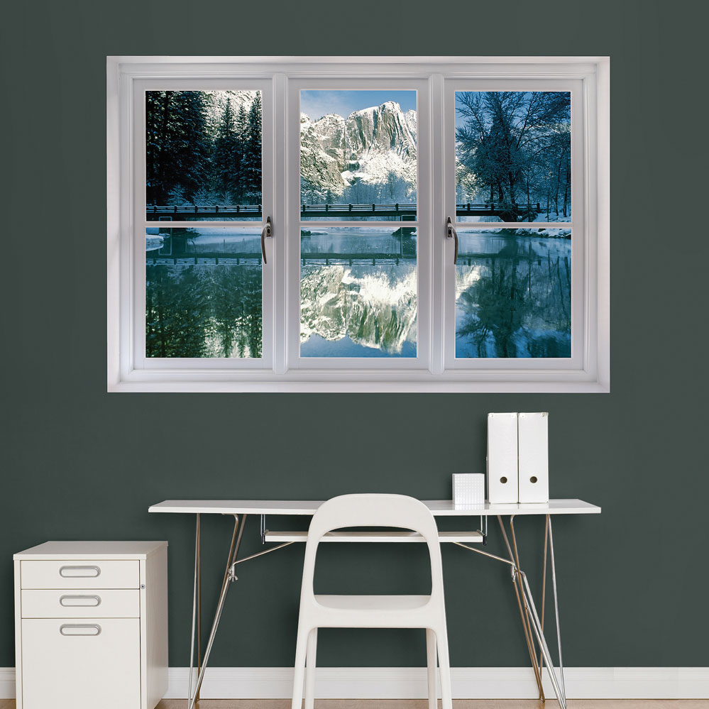 Winter at Yosemite: Instant Window Wall Decal
